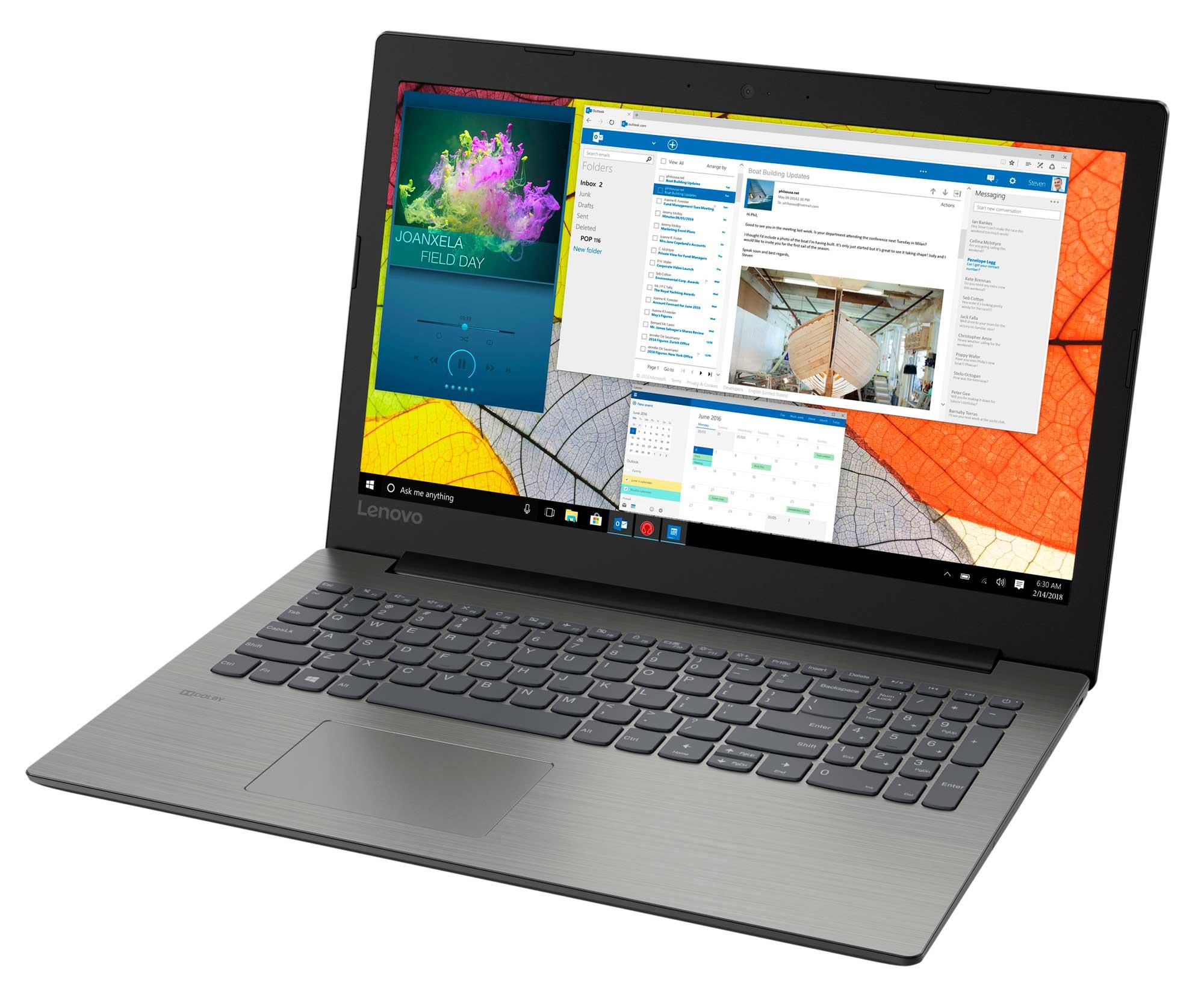 Notebook  Lenovo  Ideapad  Ideapad  330-15IKB  15.6 HD, i3 8130U, 4GB, 1TB, MX150 2GB, NO ODD, NO OS, onyx black